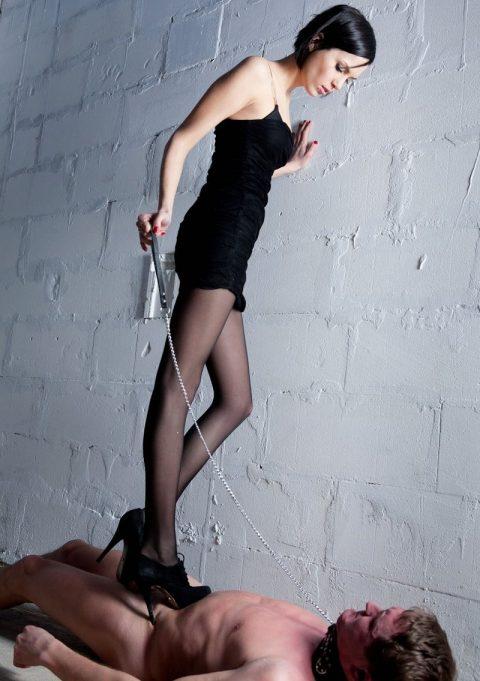 Skinny Mistress In High Heels - Hard Trampling Femdom