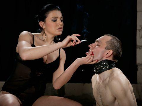 Russian Mistresse's Human Ashtray
