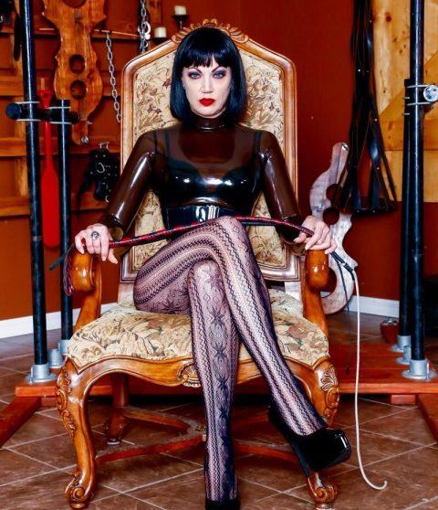 Mistress Jean Bardot Sitting In Throne