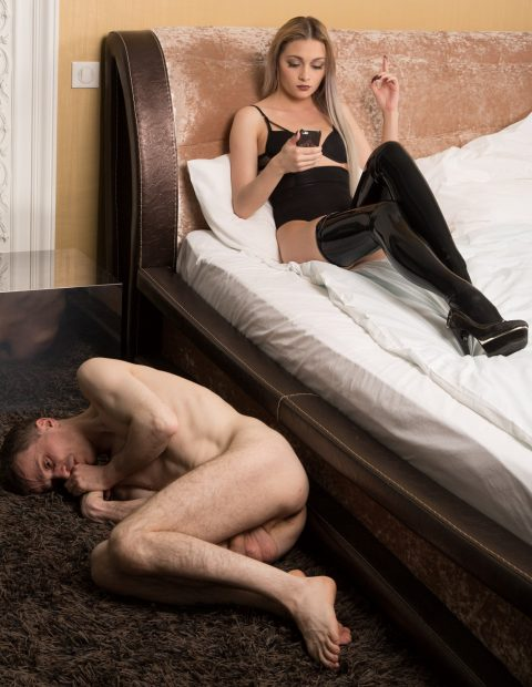 Mistress Olivia and Submissive Cuckold