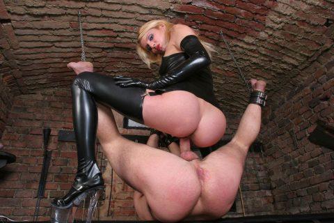 Natalie Black In Latex Stockings - Bondaged Femdom Sex