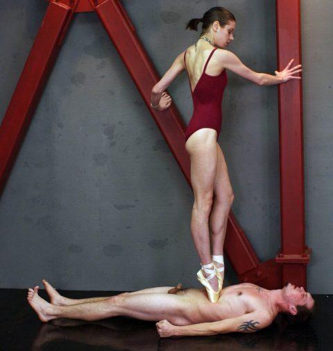 Skinny Mistress Bijou Steal - Fullweight Ballet Belly Trample Nude Slave