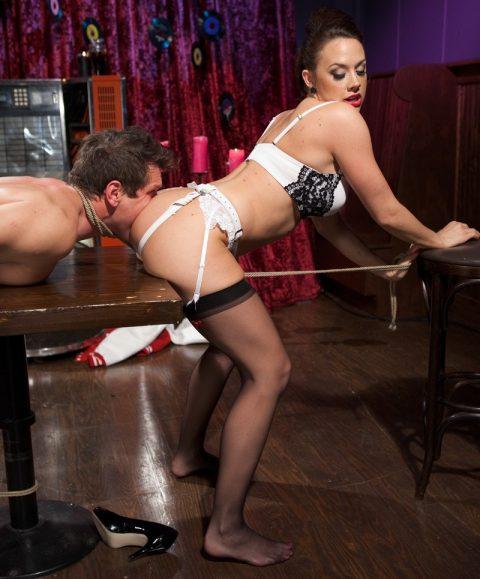 Bondaged Submissive Man Must Rimming For Chanel Preston