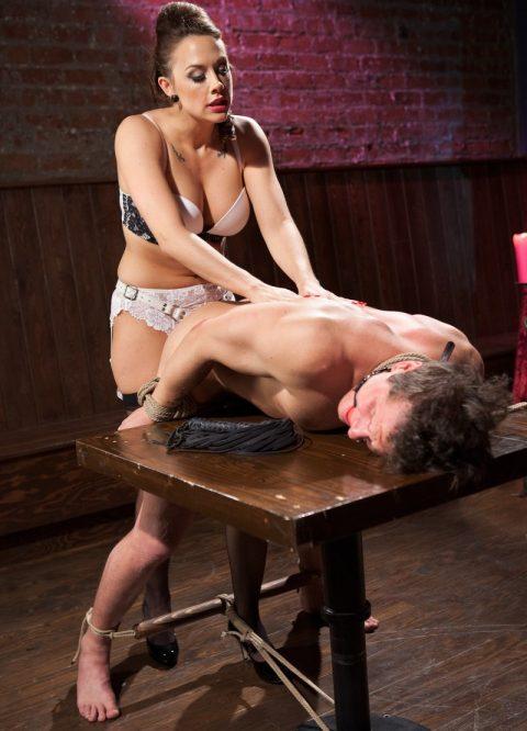 Mistress Chanel Preston Bondage Her Slave And Strapon Anal Fuck Him
