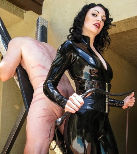 Cruel Mature Domme Jean Bardot In Hot Latex Clothes - Painful Whipping BDSM Femdom