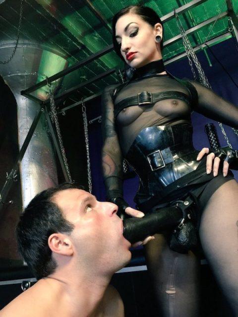 Kinky Mistress Cybill Troy With Huge Black Strapon - Blowjob Femdom Humiliation Sissy