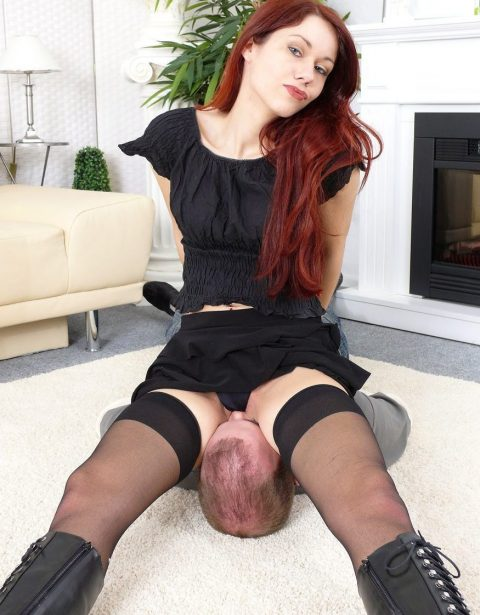 Fire Haired German Petite Mistress Luna - Smothering Female Domination