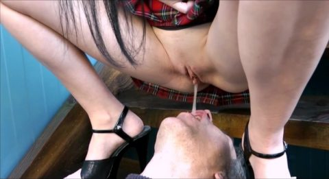 Young German Mistress With Delicious Shaved Pussy Piss In Mouth Of Her Submissive Stepfather