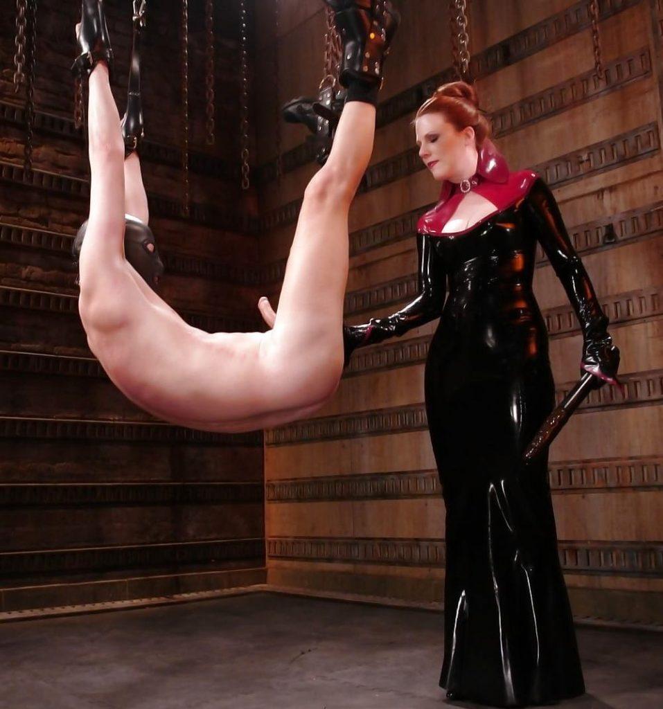 Mistress In Latex Dress - Kinky Suspended BDSM Fisting Femdom CFNM