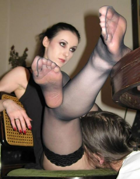 Husband - Licker Slave For Mistress Bojana In Stockings