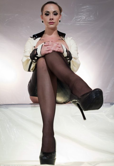 Gorgeous Mistress Chanel Preston In Nylon Stockings and High Heels Shoes Solo