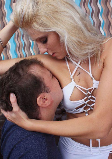 Mistress Natalie Black Makes Slave Sniff Her Sweaty Armpits