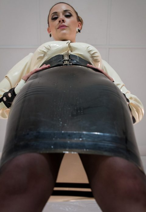 POV Worship Femdom With Mistress Chanel Preston In Latex Skirt