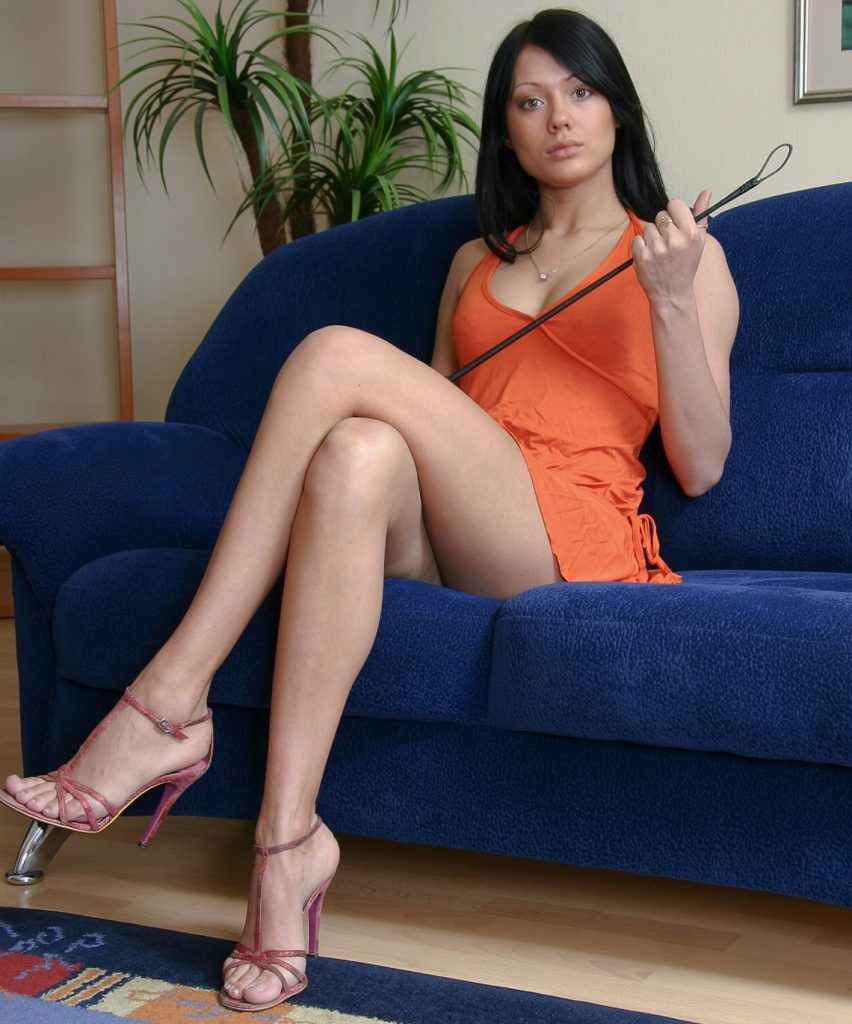 Russian and Ukrainian Brunete Mistress Anna Gold With Whip