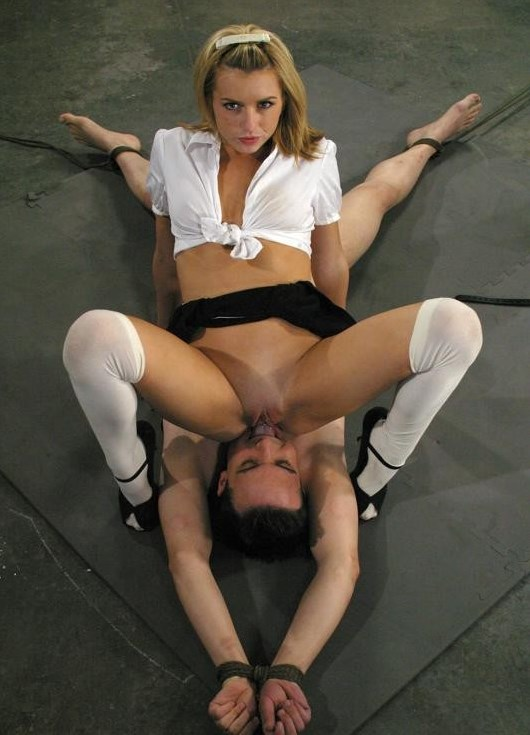 Dominant Schoolgirl Lexi Belle Tied Her Submissive Teacher and Riding His Face For Cunnilingus Femdom