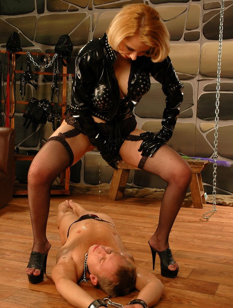 Dominant Stepmother Pees Right On The Face Of Her Bound Stepson - Golden Shower Old and Young Femdom