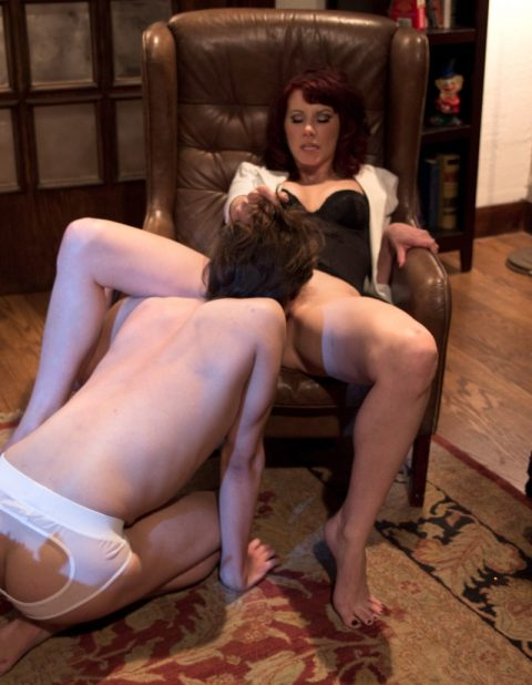 Submissive Stepson Licking Mom's Pussy