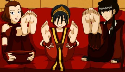 Toph Beifong, May and Suyuki's Feet - Foot Fetish Hentai Art