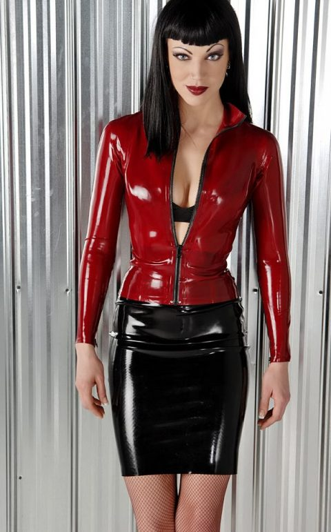 Amazing Fetish Mistress Jean Bardot In Sey Latex Skirt and Latex Dress - Top Fetish Model and Goddess