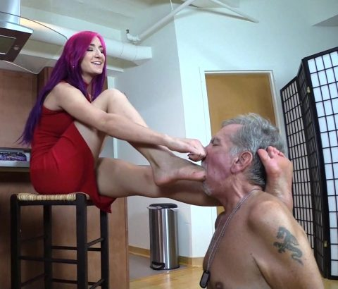 Amadahy Foot Gagging Suffocation Femdom Humiliation Her Submissive Grandpa