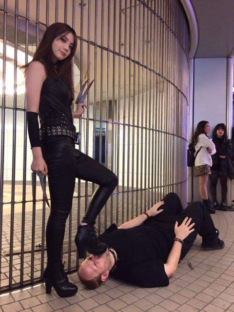 Amateur Skinny Asian Girl - Public Femdom Humiliation Shoes Worship