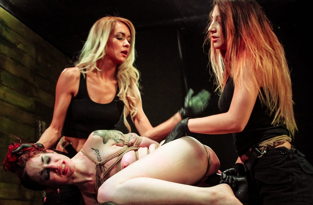 Brutal Group Lezdom BDSM Strapon Fuck and Spanking Humiliation With Alexa Rydell