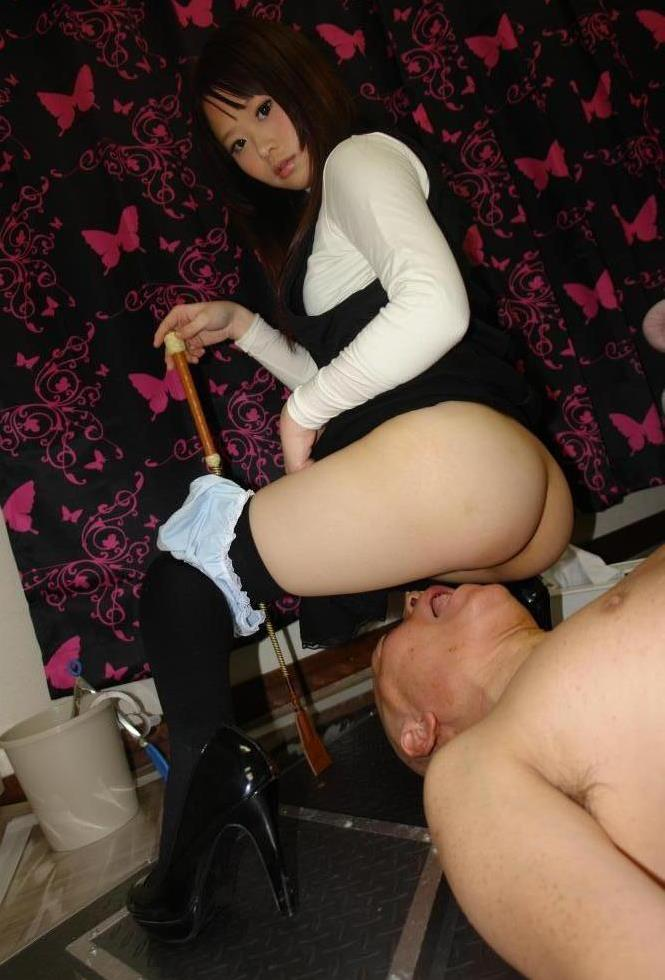 Bald Daddy Now Is a Toilet Slave For Teen Asian Stepdaughter