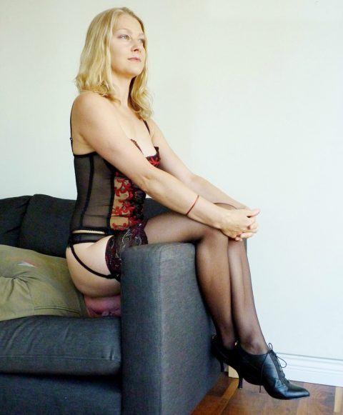 Dominant Wife In Nylon Lingerie - Facesitting Humiliation Her Submissive Husband