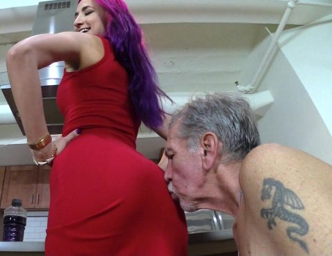 Submissive Grandpa Kiss My Ass - Goddess Amadahy Ass Worship Femdom