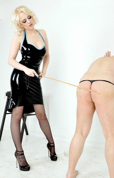 Latex Mistress Heather Caning Ass Spank Female Domination