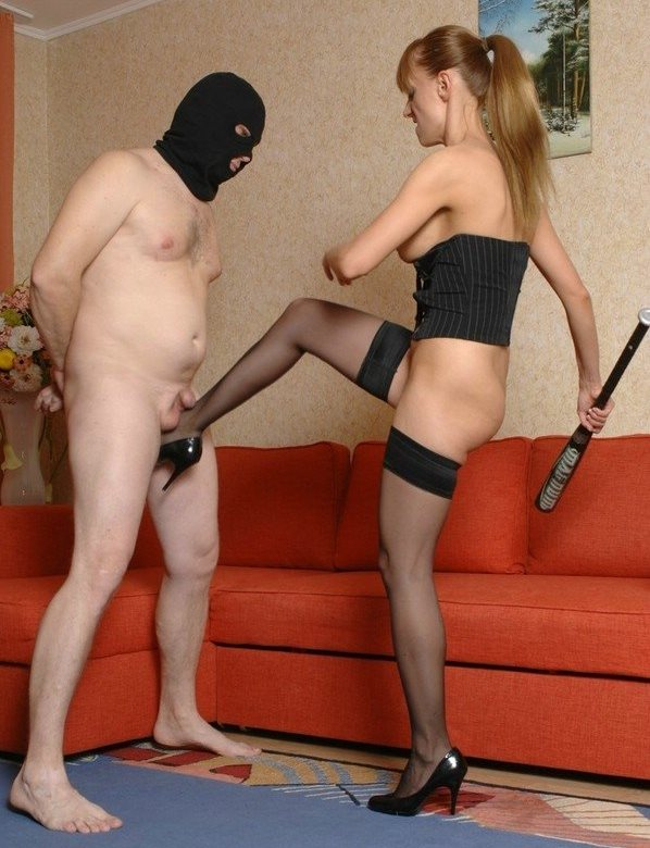 Brutal Russian Mistress With a Baseball Bat - Hardcore Ballbusting Femdom