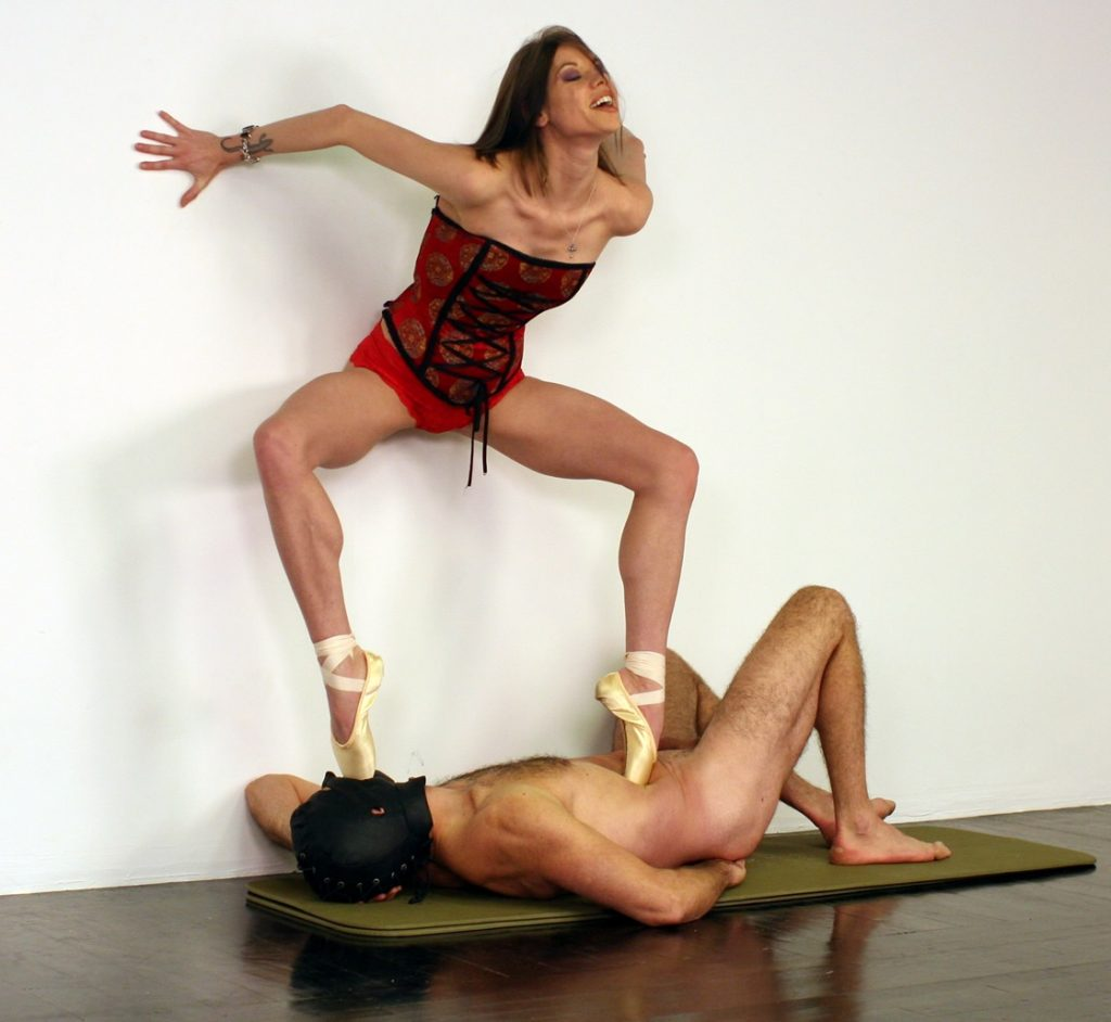 Slave As Just a Stand For The Dominant Ballerina Bijou Steal - Creative Trampling Femdom