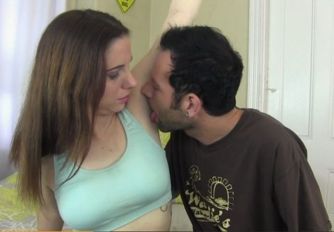 Submissive Perverted Guy Licking Sweet Armpit To His Dominant Girlfriend