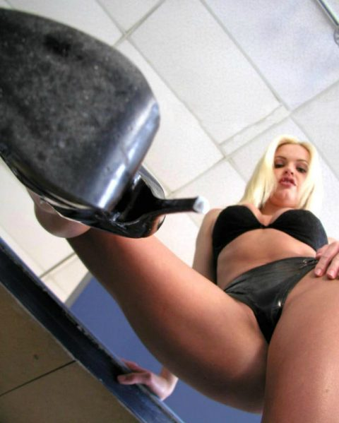 Tall Goddess In Late Panty Trample You In High Heels Shoes - POV Trampling Femdom