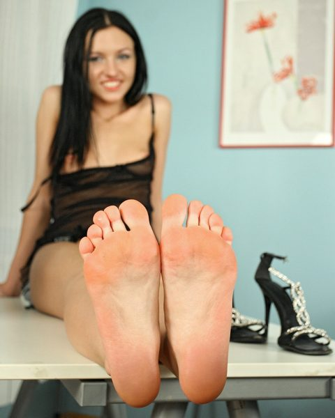 Teen Russian Mistress Sasha Rose's Dirty Feet Close-up - POV Foot Fetish