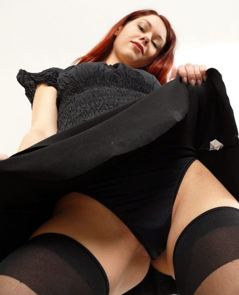 Redhead Petite Goddess Luna Up Her Skirt For Sit In Your Face POV