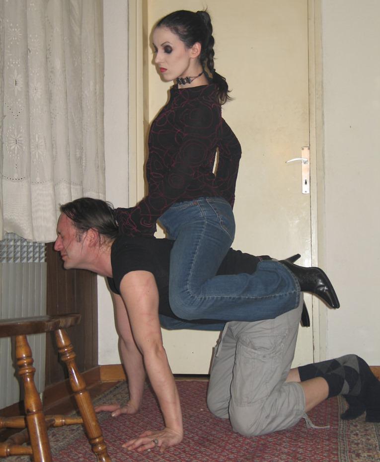 Submissive Husband Now Is Ponny For Cruel Dominant Wife Bojana - Pet Play Lifestile Femdom