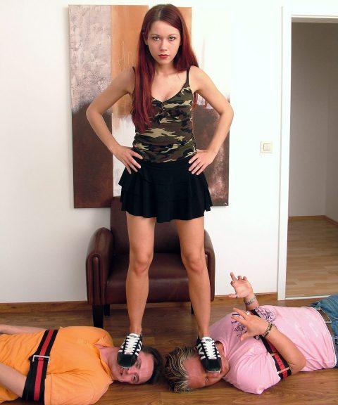 Teenager Domina Luna Double Head Trampling Fullweight in Sneakers