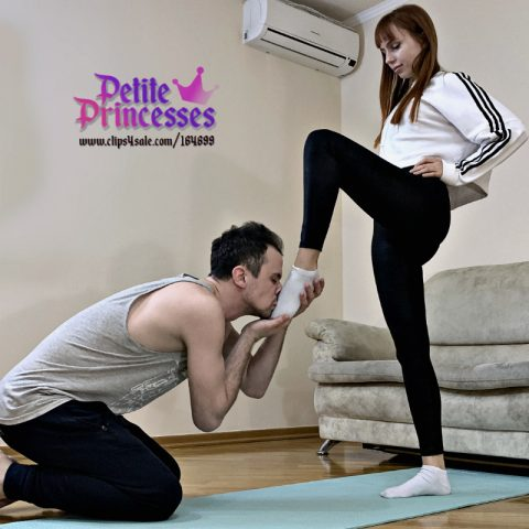 Petite Princess Kira After Gym and Foot Slave - Sweaty Socks Worship Femdom