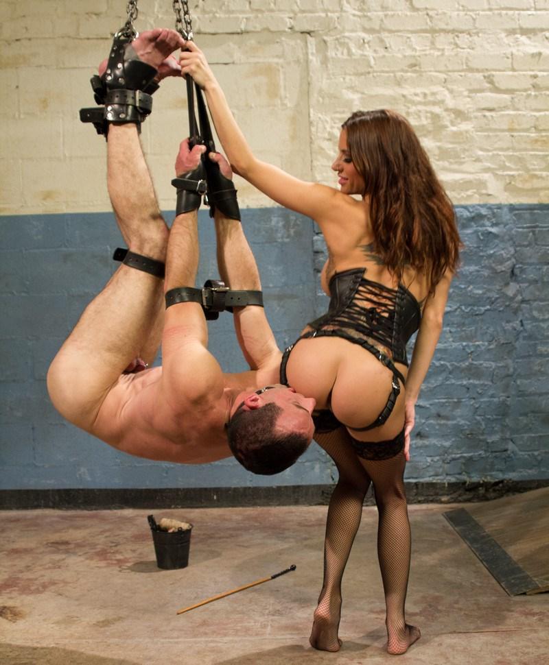 Latina Mistress Gia DiMarco Suspend Her Slave For Ass Licking Femdom BDSM