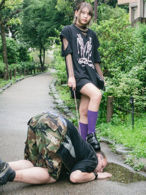 Skinny Asian Mistress Public Humiliation Her Old American Slave On a Leash - Victory Poses Real Interracial Femdom
