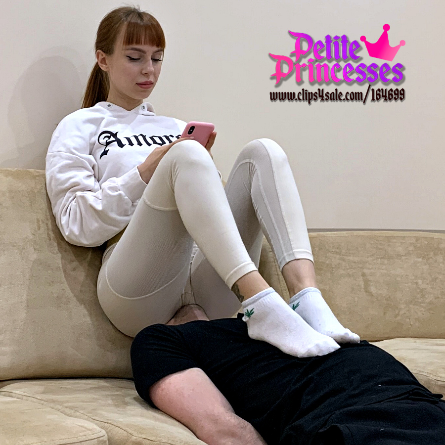 Teen Petite Mistress Kira In Sporty Leggings Full Weight Ignore Facesitting and Ass Smothering on Human Furniture Slave