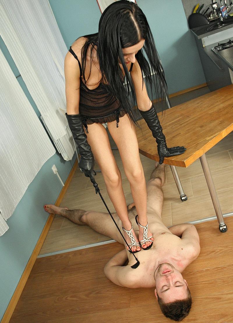 Teen Skinny Russian Mistress Sasha Rose - Full Weight Trampling In High Heels Shoes