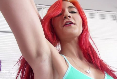 The Red-haired Goddess Amadahy Shows Her Mouth-Watering Armpits Close-ups For You to Sniff and Lick - POV Armpit Femdom