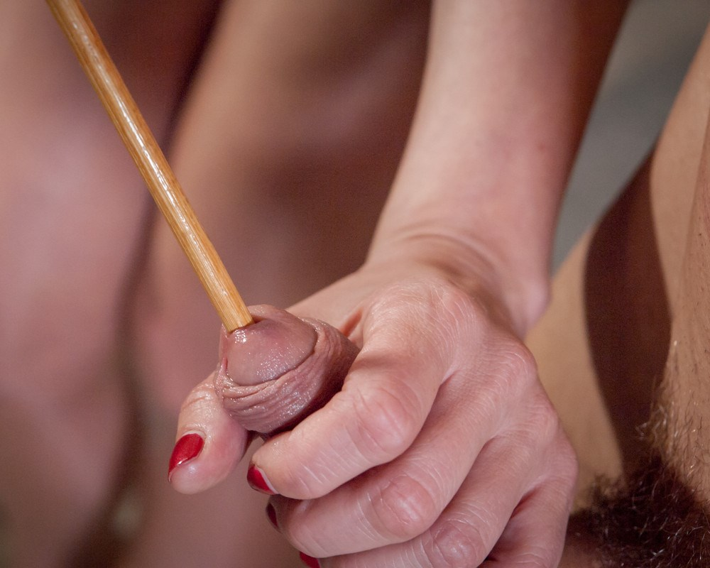 Sadistic Mom Madeleine Marlowe Takes A Stick Up Her Step Son's Dick - Close-up CBT Femdom
