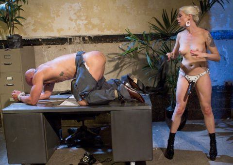 Sadistic Strapon Mistress Lorelei Lee Whipping Punishment Femdom